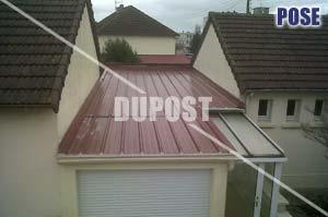 toiture garage bac acier rev tements modernes du toit. Black Bedroom Furniture Sets. Home Design Ideas